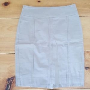 White Astor Pencil Skirt